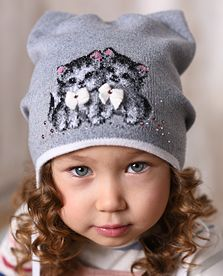 шапка для девочек 1-3 лет